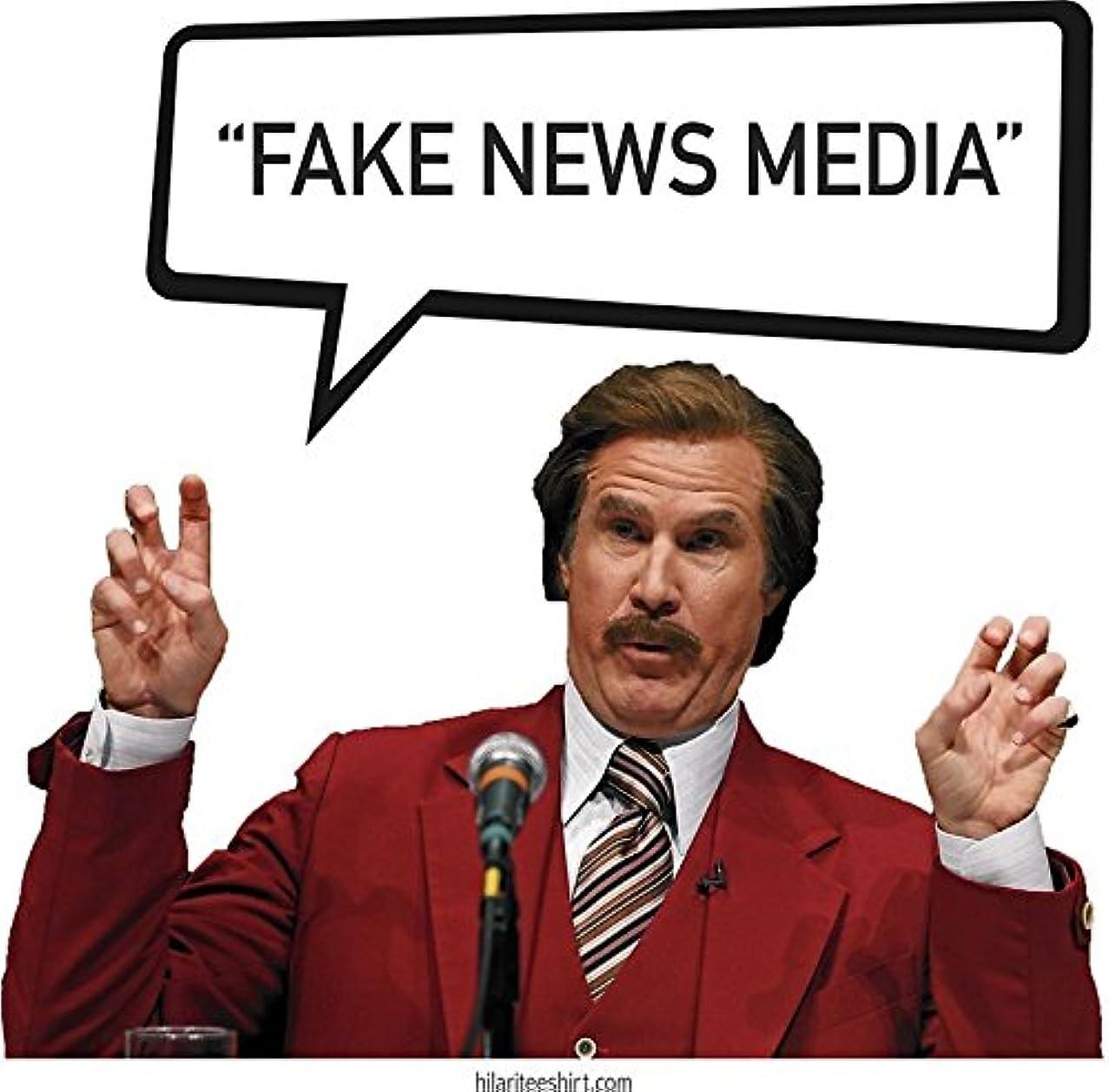 MAGNET Fake News Media - Ron Burgundy, Anchorman, Trump MAGA GOP 2020 Magnet Decal Fridge Metal Magnet Window Vinyl 5