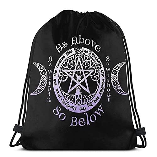 Bolsas de cordón con cordón pagano árbol de la vida unisex mochila con cordón bolsa de deporte bolsa de cuerda bolsa grande bolsa de asas bolsa de asas bolsa de gimnasio a granel