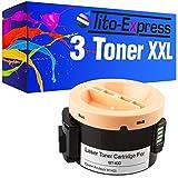3x Tóner XXL BLACK para Epson C13S050651Aculaser M1400MX-6201N 1414nf MX14MX14NF platinumserie