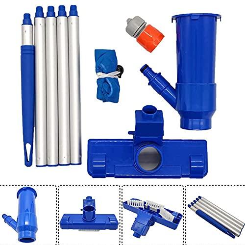 Aspirateur à vide pour piscine - Aspirateur portable avec brosse pour piscine - Pour l'entretien des fontaines - Nettoie la saleté, le bassin et le jacuzzi, les feuilles