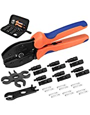 WELLUCK 27PCS Solar Crimping Tool Kit for Solar Panel, 6 Pairs Male Female Solar Cable Connectors  1 Crimper Tool   2pc Spanner Wrench, 10/11/12/13AWG Solar Panel Wiring Kit