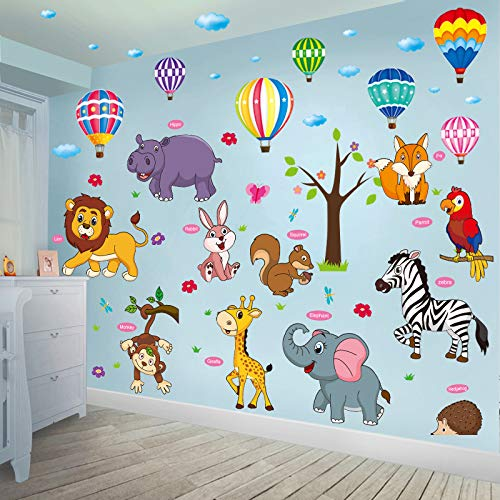 DSSJ Cartoon Animal Wall Pegar Children's Room Baby Early Education Wall Decoración de Pared Pintura de Pared 3D Stereo Kindergarten