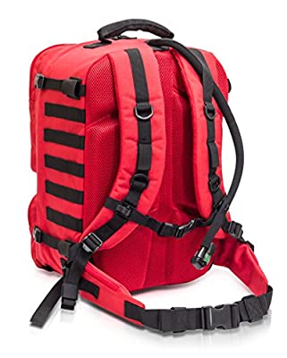 Red Paramedic Medical First Aid Backpack 43 Litre Capacity Unkitted by evaQ8