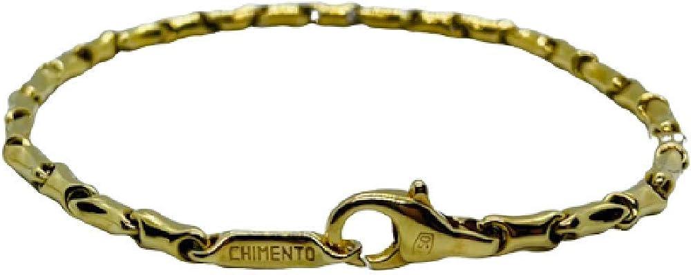 Chimento,bracciale unisex,in oro giallo 18 kt(5,7 gr)della collezione
