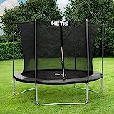METIS Backyard Trampolines – 8ft, 10ft, 12ft, 14ft,15ft | Trampoline with Enclosure Net & Padded Springs | Trampoline for Kids | Weatherproof Kids Trampoline (8ft, Voyager)