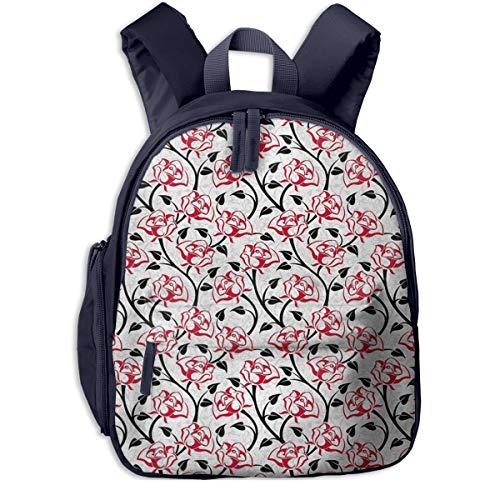 Bolsa La Escuela Mochila con Rosas Amantes Fragancia Femenina Impermeable Mochilas para Niños Niñas