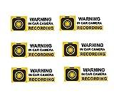 Mandala Crafts Car Anti-Theft Security Surveillance Camera Audio Video Recording Front Adhesive Window Sticker Decal (6)