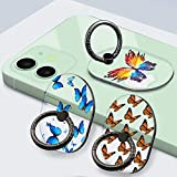 YDY 3 Pack Cell Phone Ring Holder Stand, Transparent Finger Kickstand 360°Rotation Phone Ring Grip for Smartphone (3 Oval-2)
