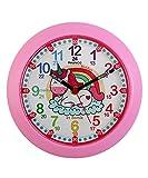 Kiddus Ki50123 Unicorn FR - Orologio Pedagogico per bambini e bambine, da parete, analogico, per imparare l'ora con il nostro semplice sistema Time Teacher, esercizi inclusi