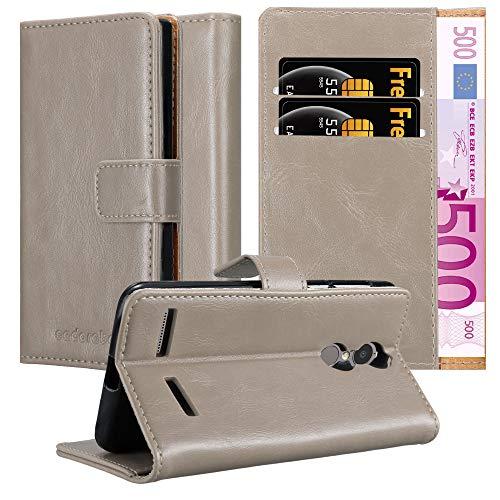 Cadorabo Hülle für Lenovo K6 / K6 Power in Cappuccino BRAUN – Handyhülle mit Magnetverschluss, Standfunktion und Kartenfach – Case Cover Schutzhülle Etui Tasche Book Klapp Style