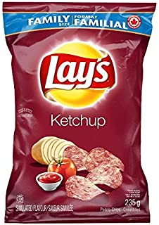 Canadian Lays Ketchup Chips - 1 Family Size Bag