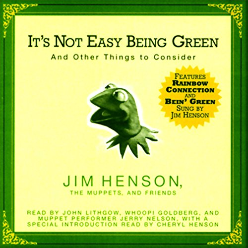 It's Not Easy Being Green audiobook cover art