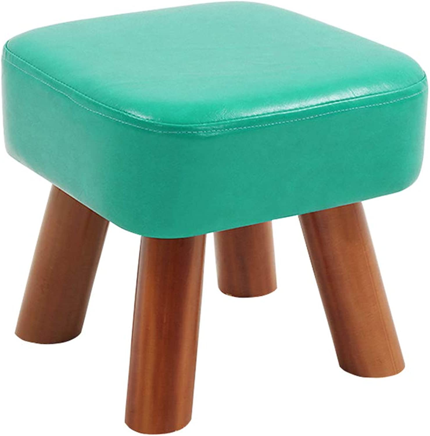 Chair - Home Environmental Soft and Comfortable Solid Wood Living Room Adult Stool Chair (color   bluee, Size   28  28  25cm)