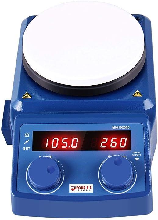 Agitatore magnetico digitale led 100-1500 rpm con 12cm piastra riscaldante MI0102003V22EU