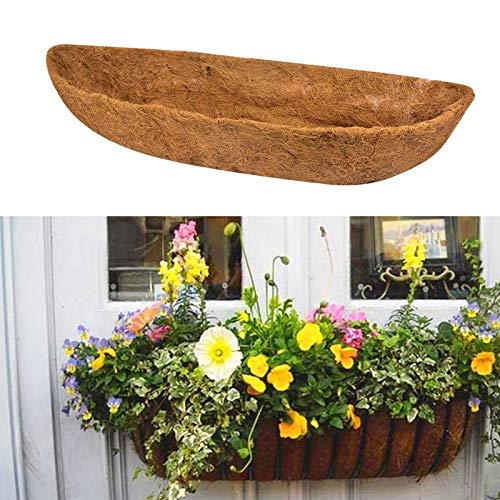 todaytop 24 Inch Coco Wall Planter Liner, CoCo Wall Hanging Basket Planter Coco Liner Replacement, Thick Coconut Fiber Liner For Planters, Garden Hanging Basket, Flower Vegetables Pot