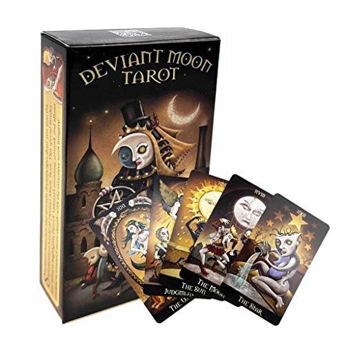 MEFKY Cartas Tarot Deck Sin Bordes Baraja Tarot Cartas Evil Moon Classic para Juegos Familiares Entretenimiento Adivinación Coleccionistas Cartas Tarot