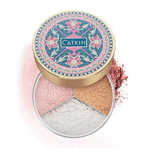 CATKIN Loose Finishing Powder For Setting Makeup Oil control Translucent Minimizes Pores Shimmer/Matte (C01 Shimmer)