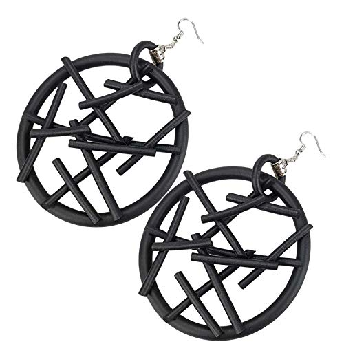 Drop Earrings For Women New Geometric Big Earrings Women Round Earrings Rubber Jewelry Black Earring Ear Accessories Gothic Eardrop Festival Gift