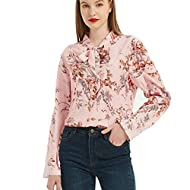 ❤【Comfortable Fabrics Material】This women t shirt is made from high quality polyester blend that is soft and comfortable to wear, No harm to the skin. ❤【Feature】Flowers print, Long sleeve, Comfortable materials, Basic vest, Casual style, Light sports...