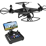 Holy Stone HS110D FPV RC Drone with 1080P HD Camera Live Video 120 Wide-Angle WiFi Quadcopter with Altitude Hold Headless Mode 3D Flips RTF with Modular Battery, Color Black