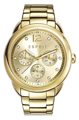 ESPRIT Damen Chronograph Quarz Uhr mit Edelstahl Armband ES108102002