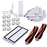 MZXUN Adecuado para S50 S51 Aspirador de vacío Kits Paños de trapeadores MOP MOPING Filtro Cepillo de Rollo Lateral (23pcs)