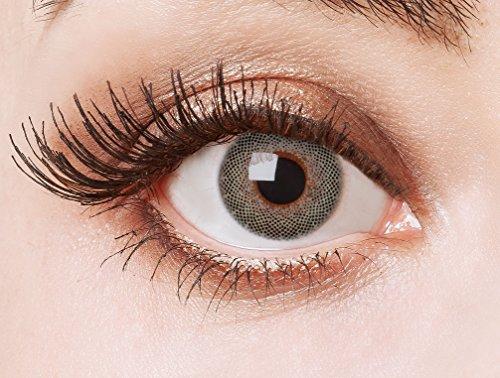 aricona Kontaktlinsen - Graue Kontaktlinsen farbig ohne Stärke - Farbige Kontaktlinsen Jahreslinsen für auffallend strahlende Augen, 2 Stück