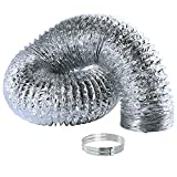 Syurund Aluminum Air Ducting for HVAC Ventilation, Dryer Vent Hose, 4 Inch x 6 Feet Flexible Air Duct for Heating and Cooling Ventilation and Exhaust