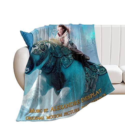 The Golden Compass - Mantas de forro polar ultra suaves para el hogar, sofá, cama, sofá, acogedoras y ligeras para todas las estaciones de regalo, manta impresa en 3D para niños y adultos de