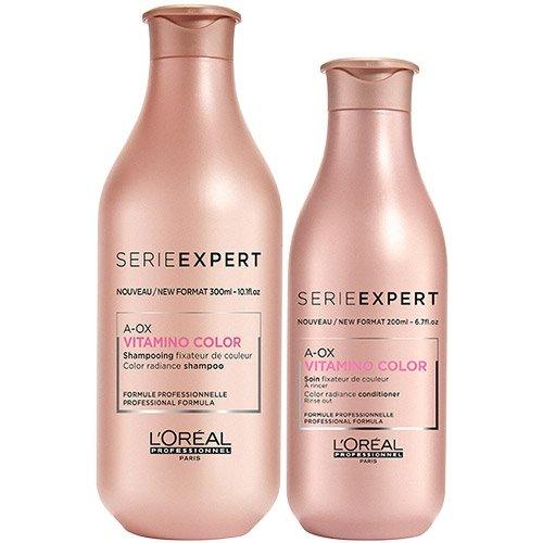 L'Oréal Professionnel Serie Expert Vitamino Color A-OX Haarshampoo zu 300 ml, Conditioner zu 200 ml, 2er-Set