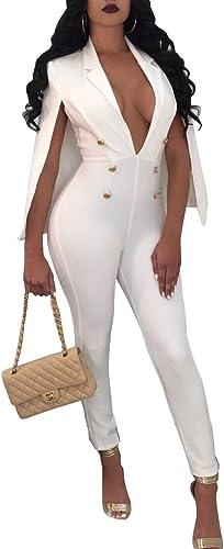 TT&LIANTIKU Europe et Les états-Unis Combinaison Sexy Combinaison   Costumes Costumes d'été, blanc, m