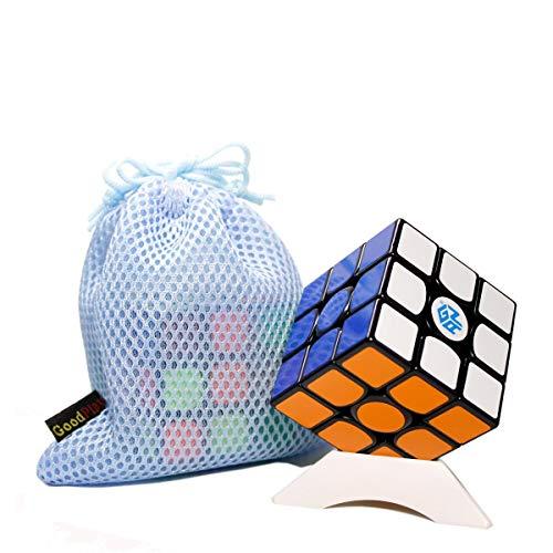 OJIN Gans 356 Air Standard 3x3 Cube Gan356 Puzzle Smooth Rompicapo Toys con Un treppiede e Borsa Personalizzati (Nero)