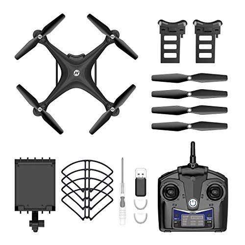 Holy Stone HS110D FPV RC Drone with 1080P HD Camera Live Video 120°Wide-Angle WiFi Quadcopter with Gesture Control, Altitude Hold, Headless Mode, 3D Flip RTF 2 Batteries and Accessories Kits