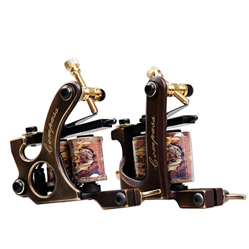 Dragonhawk 2pcs Brass Coils Tattoo Machine Straight Shader Circle Liner