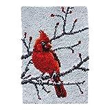 UR MAX BEAUTY Latch Hook Rug Red Cardinal Crocheting Carpet Rug Yarn Sofa Cushion Mat Crochet Tapestry DIY Carpet Arts - Crafts,20.5X15 Inch
