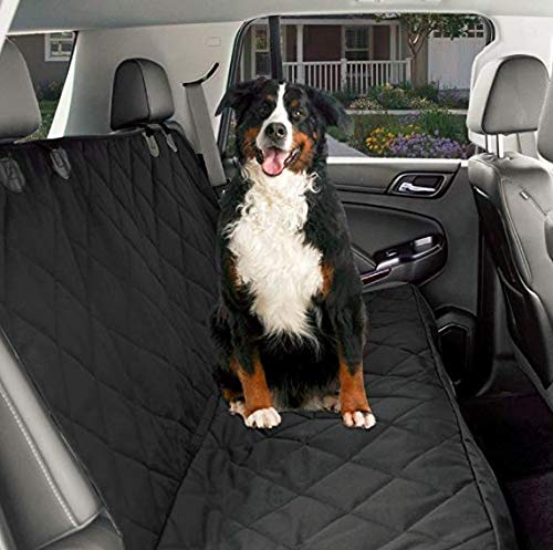 CPG DOTS Non-Slip, Dog Back Seat Cover | Durable Oxford Fabric & Polyester Pet Seat Covers | Scratch Proof Bench & Hammock Convertible, Rear Seat Covers for Small and Large Dogs