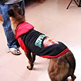 HVTKL Perro Grande, Perro, suéter de Lana, Lana Dorada, Husky, Labrador, Ropa for Perros Grandes (Color : Cap Superman Black, Size : 8XL)