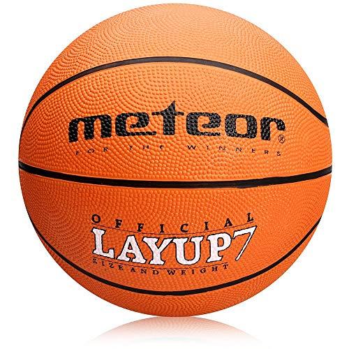 meteor® Layup Kinder Jugend Basketball Größe #5 ideal auf die Kinderhände von 4-8 Jährigen abgestimmt idealer Basketball für Ausbildung weicher Basketball (Größe 5 (Kinder), Orange)
