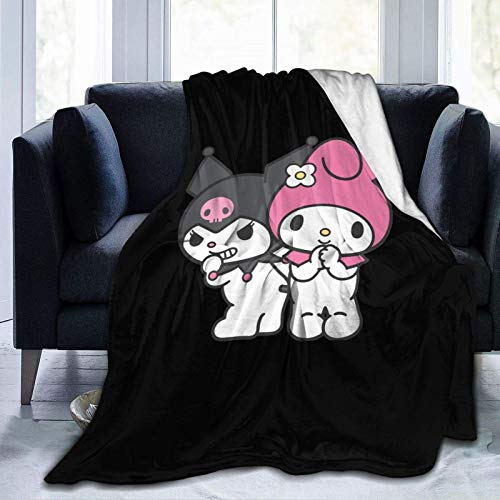Lovely Kuromi and My Melody Ultra-Soft Micro Fleece Blanket,A Blanket That Can Be Used in All Seasons, for Indoor Use, for Use in Cars.Soft and Comfortable.60 X50