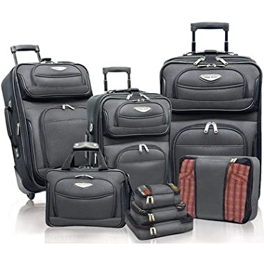 Travelers Choice Amsterdam 8pc Set, Gray