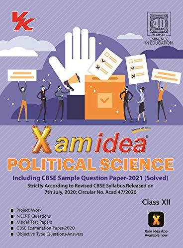 Xam Idea Political Science Class 12 CBSE (2020-21) Examination