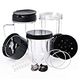 Replacement Parts for Magic Bullet, QT 18Pcs/Kit Replacement Accessories Compatible with 250W Magic Bullet MB1001, Include Replacement Cups & Cross Blade & Lids & Gear & Gaskets & Shock Pads