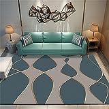 Habitaciones Matrimonio Completas Alfombra Carretera Infantil Las alfombras Modernas y Grandes para el hogar del Dormitorio se Pueden Lavar a máquina, a Prueba de Humedad e insonorizadas 120X180cm