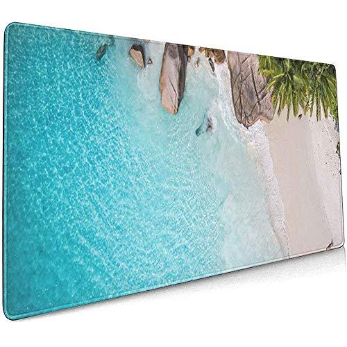 Weled Computer Keyboard Gaming Mouse Pad - Tropisches Strandmeer und Palme aus Drohnen-Seychellen