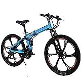 Bicicleta de montaña plegable de velocidad variable Bicicleta deportiva para estudiantes Absorción de golpes Bicicleta para niños Niños y niñas Disco doble 24/26 pulgadas, 27 velocidades, 24 pulgadas
