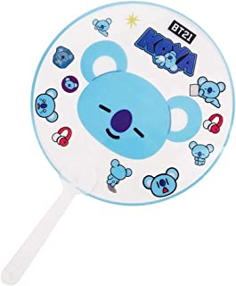 GOTH Perhk Tragbar Mini Handfächer Kpop BTS Bangtan Jungen V Suga Transparent PVC Ventilator Sommer