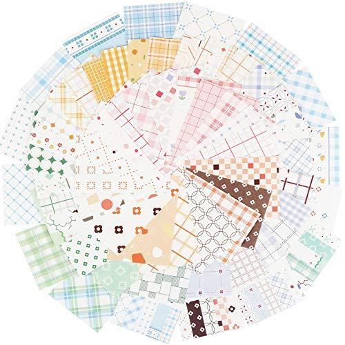 300hojas Papel Scrapbooking 56 x 83mm Bloc de Papel de Diseño para Manualidades Materiales de Scrapbooking Decoración DIY Álbumes de Recortes Colección
