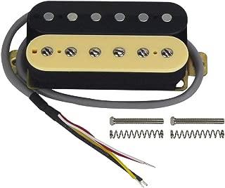 FLEOR Electric Guitar Double Coil Humbucker Pickups 50mm Ceramic Neck Pickup - (Black + Cream)