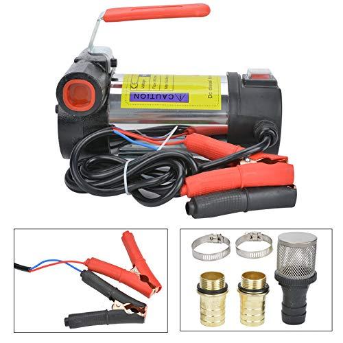BALLSHOP Dieselpumpe Ölabsaugpumpe Ölpumpe 12V 160W 40 L/min Selbstansaugend Elektrisch für Autos Motorräder Transporter Quads
