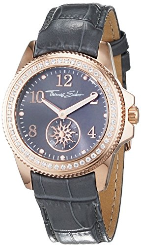 Thomas Sabo Damen-Armbanduhr Analog Quarz Leder WA0239-274-210-33 mm